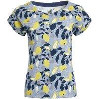 Weird Fish Paw Paw Organic Cotton Printed Jersey T-Shirt Pale Denim Size 14