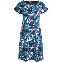 Weird Fish Tallahassee Organic Cotton Printed Jersey Dress Majolica Blue Size 18
