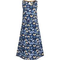 Weird Fish Fowey Printed Linen Midi Dress Nightshade Size 8