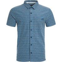 Weird Fish Cooper Jacquard Jersey Shirt Petrol Blue Size XL