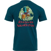 Weird Fish Weird Recycling Organic Cotton Artist T-Shirt Petrol Blue Size 4XL
