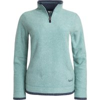Weird Fish Beyonce Grid 1/4 Zip Fleece Washed Teal Size 20