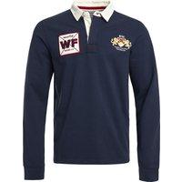 Weird Fish Higton Organic Long Sleeve Plain Rugby Shirt Navy Size M