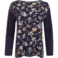 Weird Fish Runa Printed Cotton Sleeve T-Shirt Grape Size 22