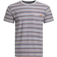 Weird Fish Anderson Jacquard Striped T-Shirt Rust Size S