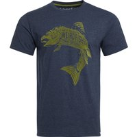 Weird Fish Hooked Eco Branded T-Shirt Navy Size XL