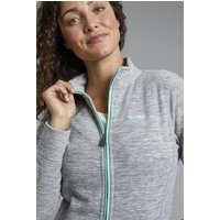 Weird Fish Adele Spaced Dyed Full Zip Fleece Frost Grey Size 8