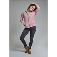 Weird Fish Adele Spaced Dyed Full Zip Fleece Dusty Rose Size 16