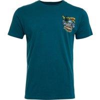 Weird Fish Motorpikes Organic Cotton Artist T-Shirt Petrol Blue Size 5XL