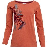 Weird Fish Siris Eco Graphic Long Sleeve T-Shirt Rust Size 22