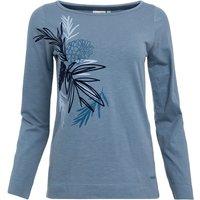 Weird Fish Siris Organic Cotton Long Sleeve Graphic T-Shirt Blue Mirage Size 22