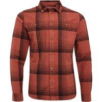 Weird Fish Chester Organic Cotton Long Sleeve Check Shirt Rust Size 3XL