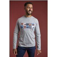 Weird Fish Fish Box Eco Branded Graphic T-Shirt Grey Marl Size S