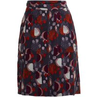 Weird Fish Valery Printed Cord Skirt Charcoal Size 22