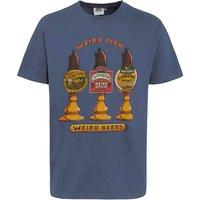 Weird Fish Weird Beers Artist T-Shirt Blue Mirage Size M