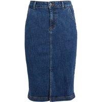 Weird Fish Madison Organic Denim Skirt Dark Denim Size 20