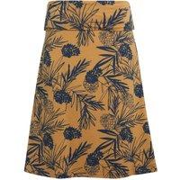 Weird Fish Malmo Printed Organic Jersey Skirt Mustard Size 14