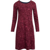 Weird Fish Delray Organic Cotton Jersey Dress Mulled Wine Size 12