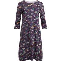 Weird Fish Starshine Organic Cotton Printed Jersey Dress  Grape Size 22