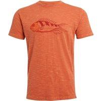 Weird Fish Raw Fish Organic Cotton Graphic T-Shirt Rust Size L