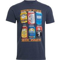 Weird Fish Six Pack Organic Cotton Artist T-Shirt Navy Size 4XL