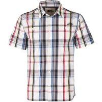 Weird Fish Farley Check Short Sleeve Shirt Optic White Size 2XL