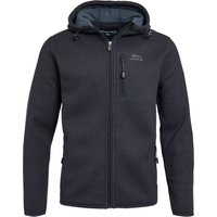 Weird Fish Lockie Recycled Full Zip Bonded Fleece Cement Size L