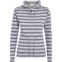 Weird Fish Kalma Striped 1/4 Zip Soft Knit Fleece Sweatshirt Dark Navy Size 20