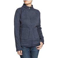 Weird Fish Hopa Plain Zipped Soft Knit Fleece Top Dark Navy Size 20