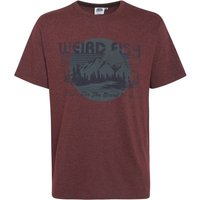 Weird Fish Great Outdoors Jersey Graphic Print T-Shirt Conker Marl Size XL