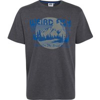 Weird Fish Great Outdoors Jersey Graphic Print T-Shirt Ebony Marl Size L