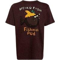 Weird Fish Fishmas Pud Printed Artist T-Shirt Conker Marl Size 2XL