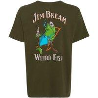 Weird Fish Jim Bream Printed Artist T-Shirt Olive Night Size XL