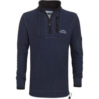 Weird Fish Parkway 1/4 Zip Deluxe Tech Mac Macaroni Sweatshirt Dark Navy Size 4XL