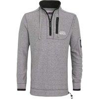 Weird Fish Parkway 1/4 Zip Deluxe Tech Mac Macaroni Sweatshirt Frost Grey Size S