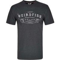 Weird Fish Supremecy Boy's Branded Graphic Print T-Shirt Ebony Size 7-8