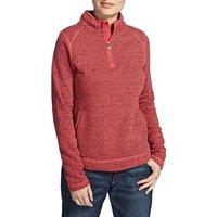 Weird Fish Sami Plain 1/4 Zip Fleece Soft Knit Sweatshirt Foxberry Size 16