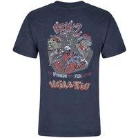 Weird Fish Cray Z Printed Artist T-Shirt Dark Navy Size 2XL