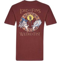 Weird Fish Lord Of The Fins Printed Artist T-Shirt Conker Size L
