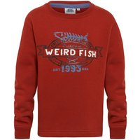 Weird Fish Declaration Crew Neck Sweatshirt Chilli Red Size 3-4