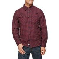 Weird Fish Latchbrook Check Long Sleeve Shirt Conker Size S