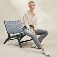 155 Straight Leg Jeans, Pale Grey, 4