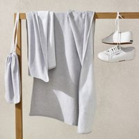 Lightweight Active Towel , Grey Marl, Bath Towel