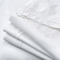 Adeline Flat Sheet, White, King
