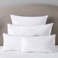 Avignon Cushion Cover, White, Small Rectangle