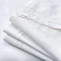 Adeline Flat Sheet, White, Super King