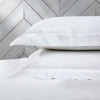 Adeline Oxford Pillowcase with Border - Single, White, Super King