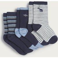 Animal Socks - Set of 3, Multi, 4-6yrs