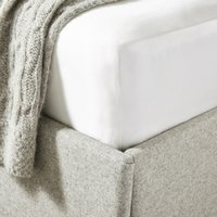 Audley Pure Silk Fitted Sheet , Chalk, King