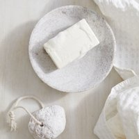 Marble Soap Dish, White, One Size